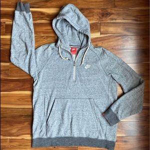 Nike Men's Hooded Pullover 1/4 ZIP Sweatshirt M